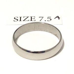 Silver Tone Ring, Size 7.5